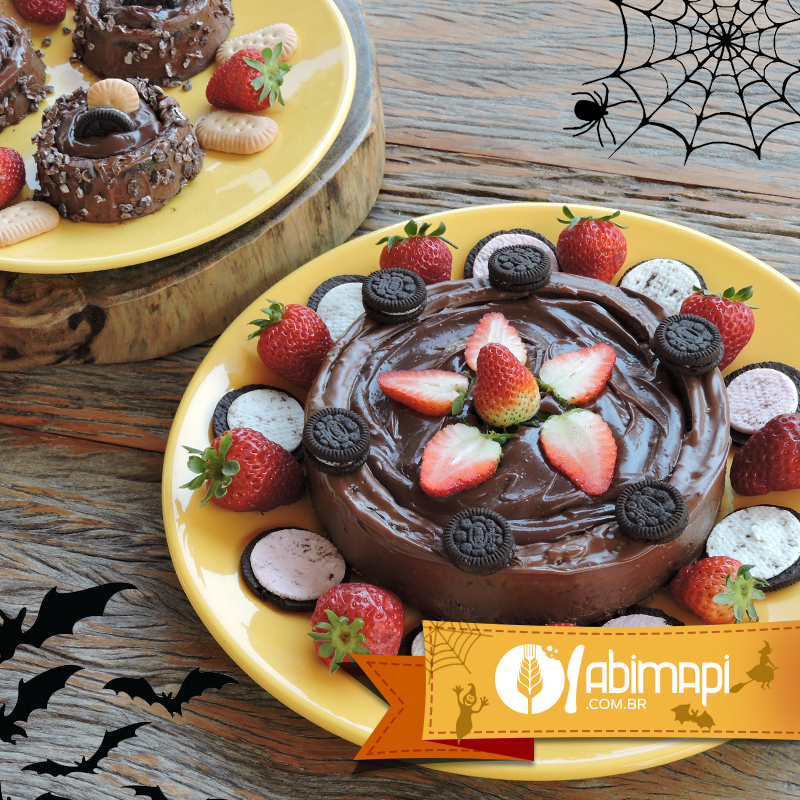 Especial Halloween - Bolo piscina de chocolate
